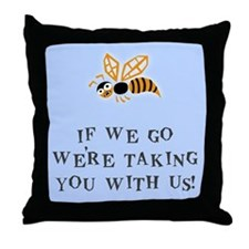 Bee With Us Throw Pillow