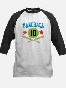 Baseball Player Number 10 Tee