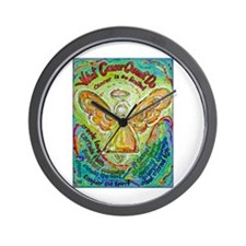 Rainbow Cancer Angel Wall Clock