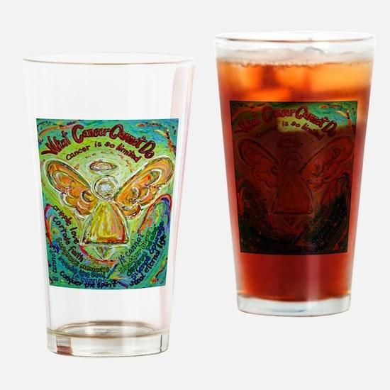 Rainbow Cancer Angel Drinking Glass