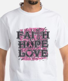 Breast Cancer Faith Hope Love Shirt