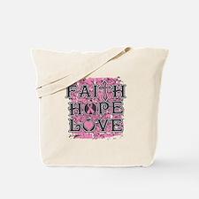 Breast Cancer Faith Hope Love Tote Bag