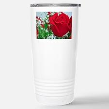 One Red Rose Travel Mug