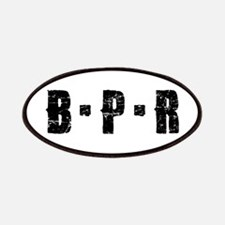 B-P-R Black Font Patches