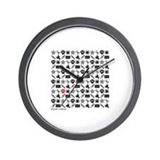 Icon Multiples Pattern Wall Clock