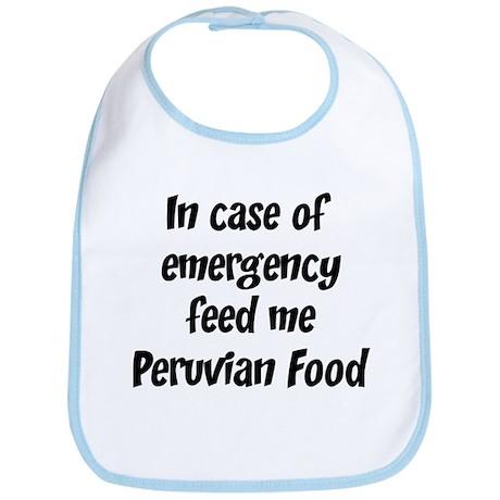 Feed me Peruvian Food Bib