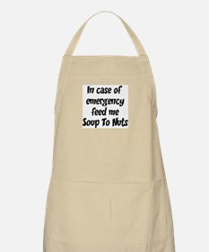 Feed me Soup To Nuts BBQ Apron