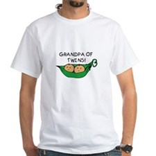 Grandpa of Twins Pod Ash Grey T-Shirt