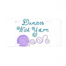 DancesWithYarnDark.png Aluminum License Plate