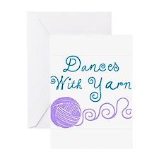 DancesWithYarnDark.png Greeting Cards