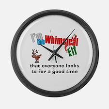 Whimsical Elf Large Wall Clock