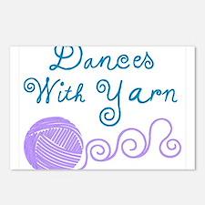 DancesWithYarnDark.png Postcards (Package of 8)