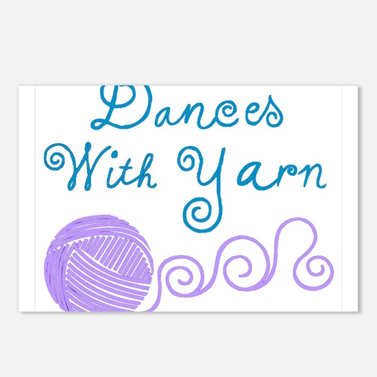 DancesWithYarnDark.png Postcards (Package of 8)