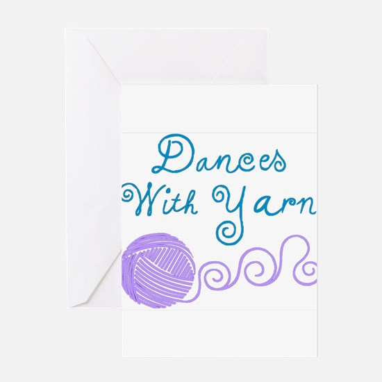DancesWithYarnDark.png Greeting Cards