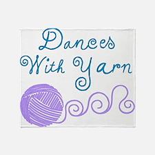 DancesWithYarnDark.png Throw Blanket