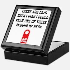 Do Not Disturb Neck Keepsake Box