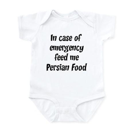 Feed me Persian Food Infant Bodysuit