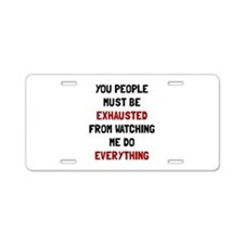 Exhausted Aluminum License Plate