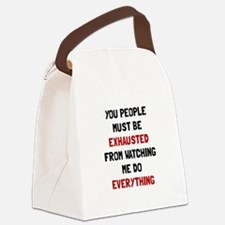 Exhausted Canvas Lunch Bag