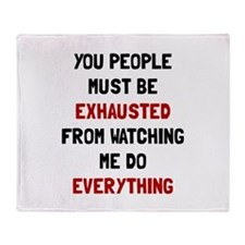 Exhausted Throw Blanket