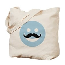 Happy face with mustache Tote Bag
