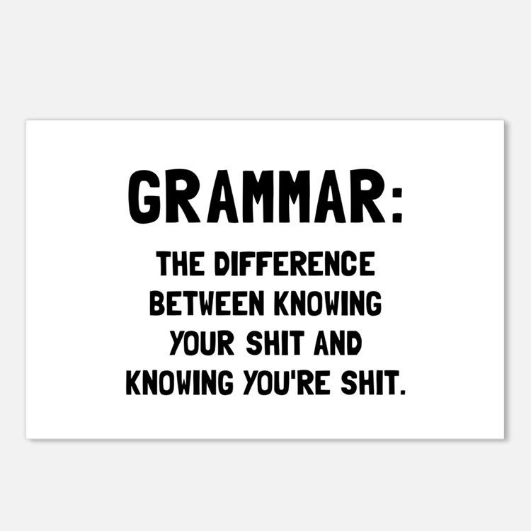 Grammar Shit Postcards (Package of 8)