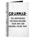 Grammar police Journals & Spiral Notebooks