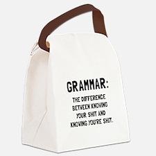 Grammar Shit Canvas Lunch Bag