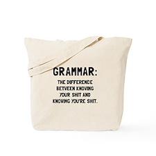 Grammar Shit Tote Bag