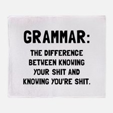 Grammar Shit Throw Blanket
