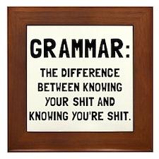 Grammar Shit Framed Tile
