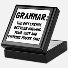 Grammar Shit Keepsake Box