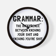 Grammar Shit Wall Clock