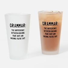 Grammar Shit Drinking Glass