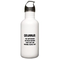 Grammar Shit Water Bottle