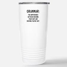 Grammar Shit Travel Mug