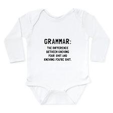 Grammar Shit Body Suit