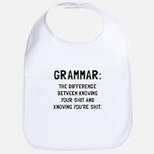 Grammar Shit Bib
