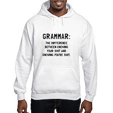 Grammar Shit Hoodie