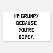 Grumpy Dopey Decal