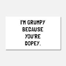 Grumpy Dopey Car Magnet 20 x 12