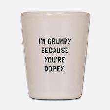 Grumpy Dopey Shot Glass