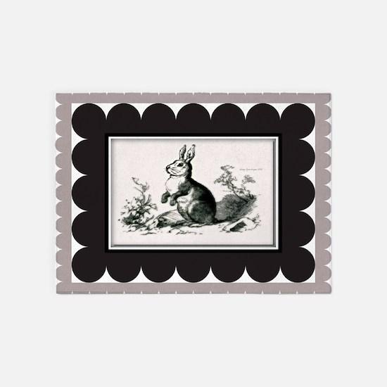 Forest Bunny 5'X7'area Rug