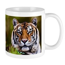 Tiger in Grass Mugs