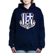 Greece Soccer Shield Hooded Sweatshirt