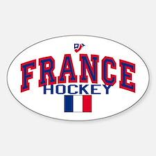 FR France Hockey Oval Decal
