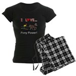 I Love Pony Power Women's Dark Pajamas
