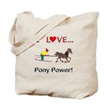 I Love Pony Power Tote Bag