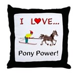 I Love Pony Power Throw Pillow
