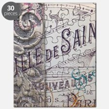 vintage french scripts artistic fashion Puzzle